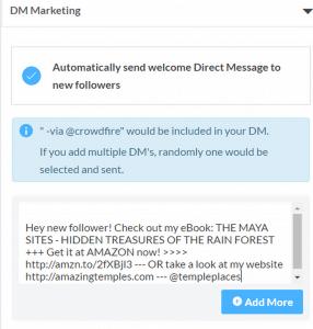 Automatische Direktnachrichten mit Twitter - Crowdfire