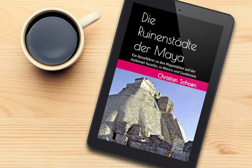 3D-eBook-Cover in ein Tablet projiziert