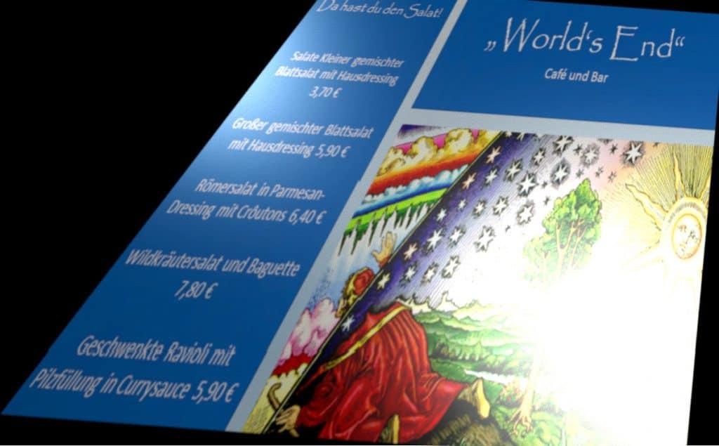 Pseudospeisekarte als grafisches Beiwerk für den Artikel über WordPress Menüs